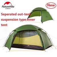 Nature randonnée usine nuage pic 2 hexagonale ultra-léger tente 2 personne camping en plein air randonnée 4 saison Double couche coupe-vent tente