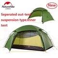 Naturehike fábrica nube pico 2 tienda hexagonal ultraligera 2 personas camping al aire libre senderismo 4 temporada doble capa carpa a prueba de viento