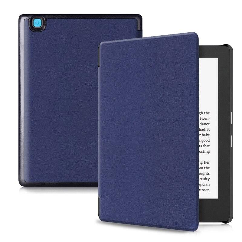 Aroita Ultrathin PU Leather Case for KoBo Aura H2O edition 2 E-Book with Auto Sleep/Wake Fashion Pure Color Cover