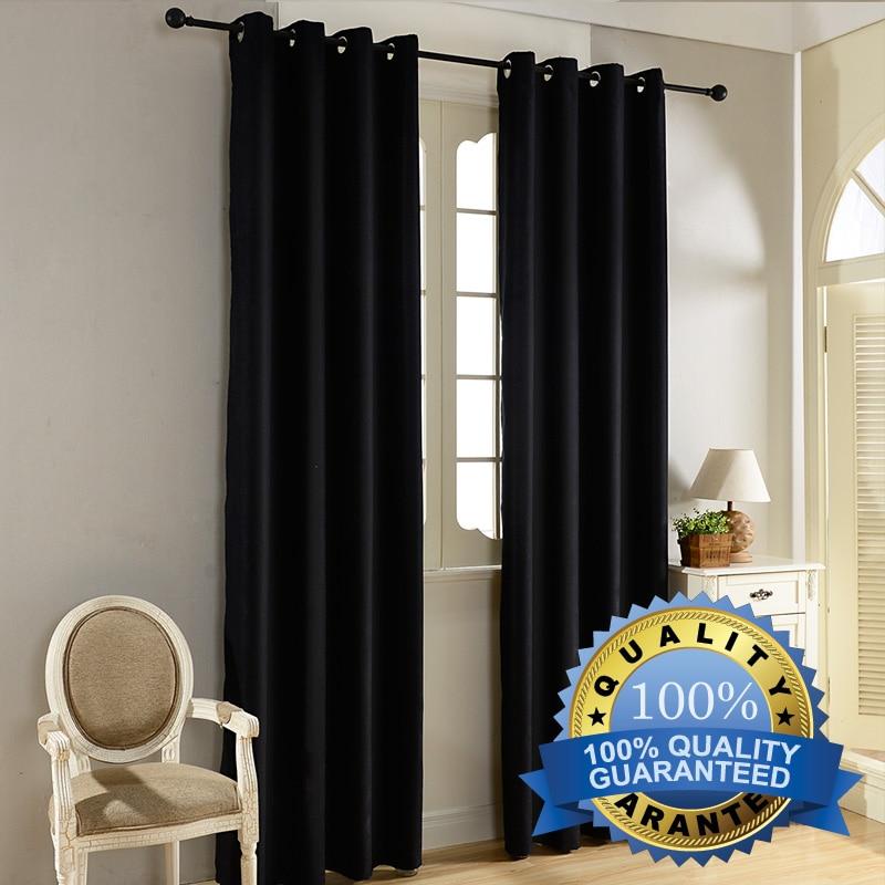 Top Finel Modern Solid Velvet Blackout Curtains For Living