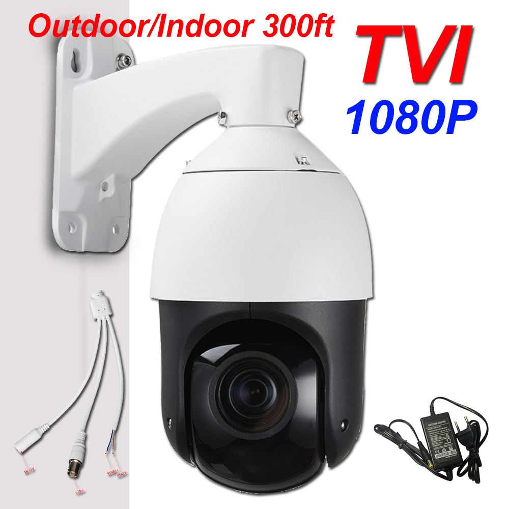 Security HD TVI 1080P 4 High Speed PTZ Camera 2.0MP 20X Zoom IR 100M IP66 Pan Tilt Coaxial PTZ Control for HIKVISION TVI DVR