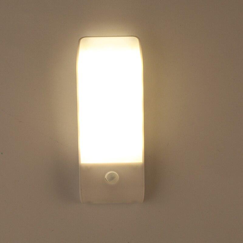 POTENCO USB Rechargeable 12 LED Nuit Lumière Avec Détecteur de mouvement PIR Infrarouge Nocturne Scintillante Couloir Placard Armoire Lampe de Nuit
