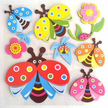 10 Sets 3D Cartoon Decoration For Children Room Lovely Animal  Wall Sticker Removable Wall Stickers