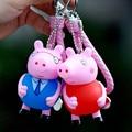 Creative cartoon cute pink pig pig paggy piggy pig key chain George pig hang mini key chain