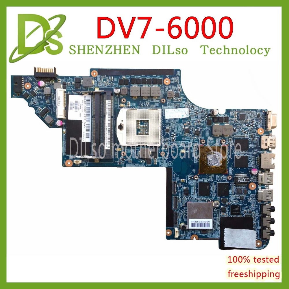 KEFU DV7-6000 Motherboar 665991-001 For Hp Pavilion DV7 DV7-6000 HM65 665991-001 H6670/2G 100% Original TEST MOTHERBOARD