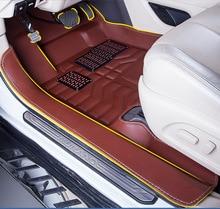 цена на Myfmat CUSTOM car floor mats leather for the great wall SING wingle 3 wingle 5 wingle 6 deer pick-up M1 M2 durable long lasting
