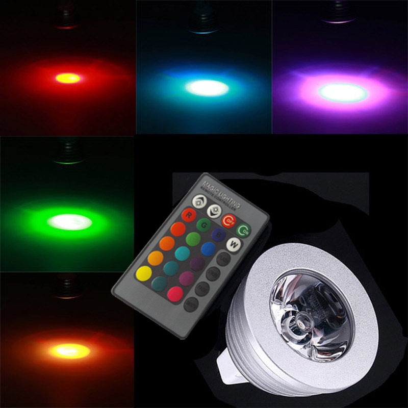 MR16 GU10 RGB LED Lamp 16 Kleuren Veranderen LED Spotlight Spot ...