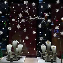 Window Snow Flakes Sticker Winter Snowflake Wall Stickers Christmas Window Wall Decals Xmas Christmas Decoration Home Decor