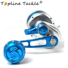 купить Topline Saltwater Fishing trolling Reel TC100-500R Max Drag 25-35kg Sea Boat Jigging Reel дешево