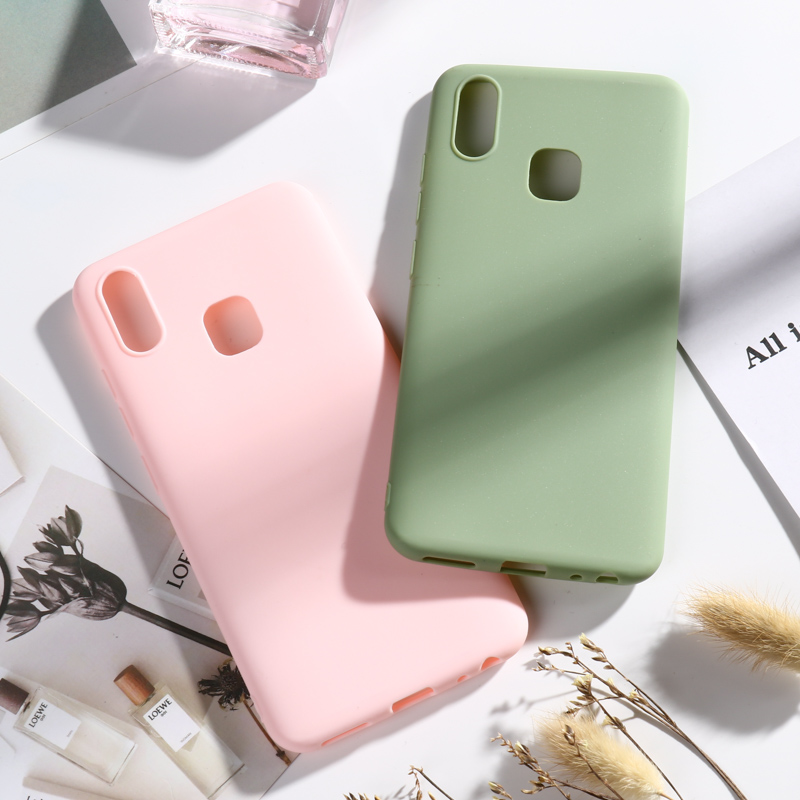 Matte Candy <font><b>Case</b></font> for <font><b>Vivo</b></font> Y91 <font><b>Y83</b></font> Pro Y81 Y71 Y69 Y66 Y67 Y55 Y53 Y22 Y21 Y25 Y53 <font><b>Cases</b></font> for <font><b>Vivo</b></font> X9S X9 Plus Bumper Funda Capa image