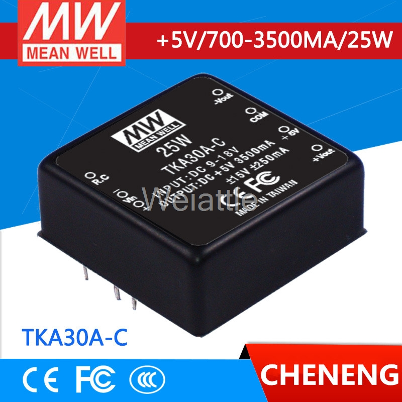 цена на MEAN WELL original TKA30A-C 5V 3500mA meanwell TKA30 5V 25W DC-DC Triple Output Converter