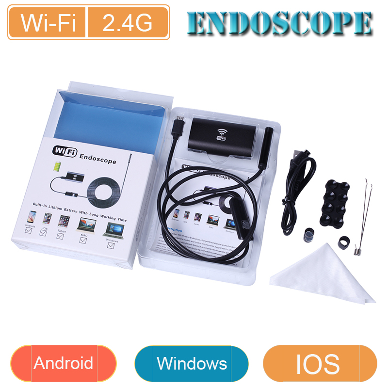 US $18 82 |Wifi endoscope for IOS and Android Device 8mm lens 720P  endoscopy Inspection camera for Iphone android and computer-in Surveillance  Cameras