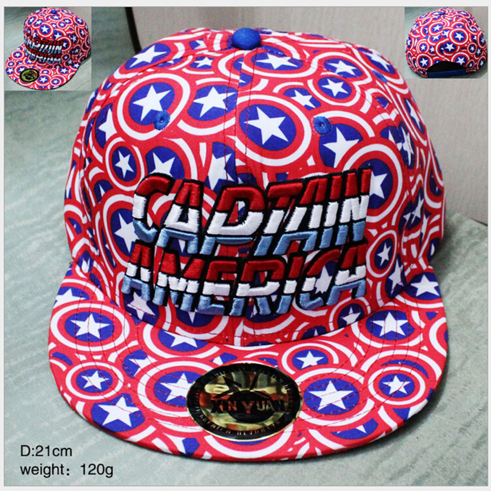 Hot Movie Captain America shield design Cosplay Cap Novelty cartoon pink blue Marvel ladies dress mans Hat charms Baseball cap batman logo cosplay cap black yellow novelty super hero hats cartoon ladies dress mans hat charms costume props baseball cap