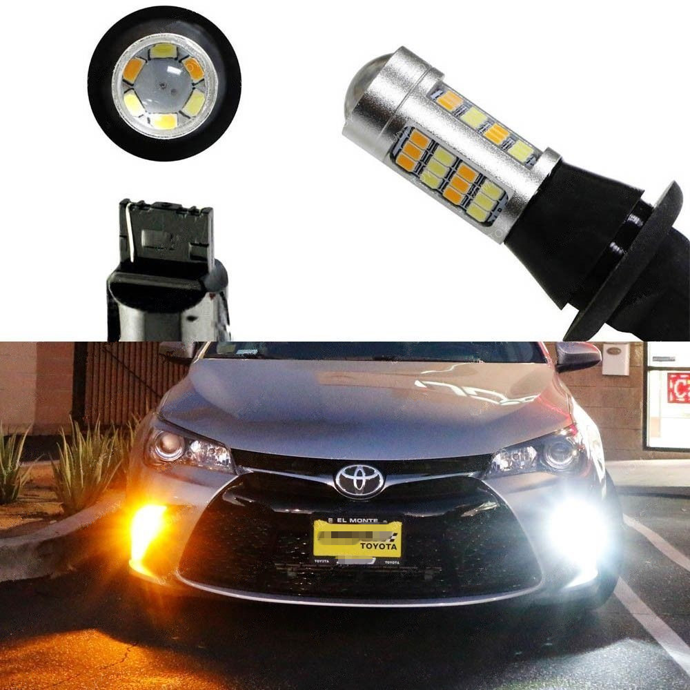 Switchback LED Bulbs For 2015-up Toyota Camry Front Turn Signal Lights or DRL ijdm amber yellow error free bau15s 7507 py21w 1156py xbd led bulbs for front turn signal lights bau15s led 12v