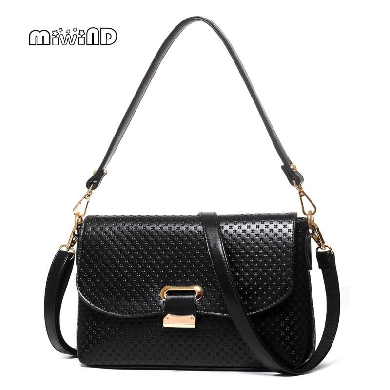 ФОТО MIWIND PU Leather Women Messenger Bags Hotsale Bags Women Shoulder Bags 2017 Fashion Crossbody Bags for Women Free Shipping