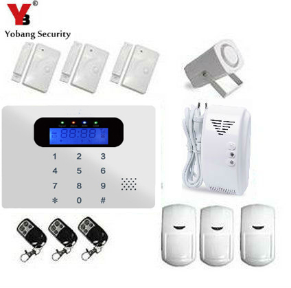 YobangSecurity Russian/Spanish/French /Italian/Czech/Portuguese alarm GSM SMS Home Burglar Security Wireless Gsm Alarm System