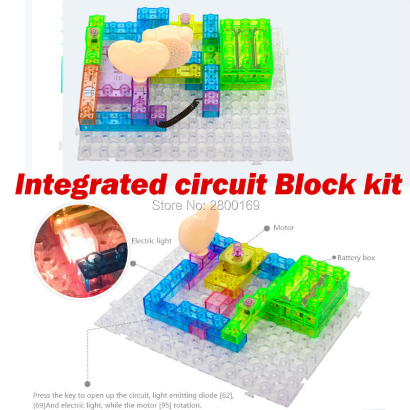 115 projects Integrated Building Block 34PCS Electronic Component Educational & Learning Blocks Best Science Gift For kids