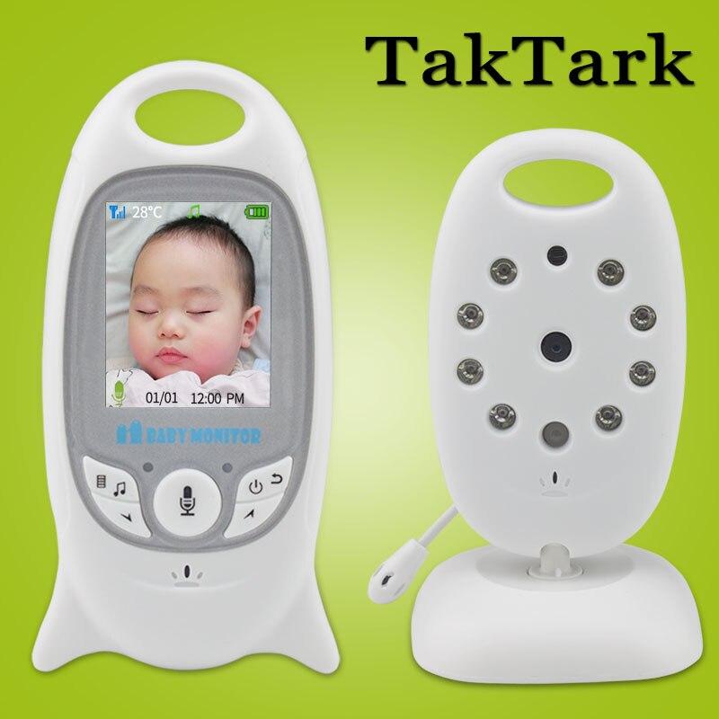 Wireless Video Baby Monitor 2.0 pollice Telecamera di Sicurezza a Colori 2 Vie Parlare NightVision IR LED di Monitoraggio della Temperatura con 8 Ninna Nanna