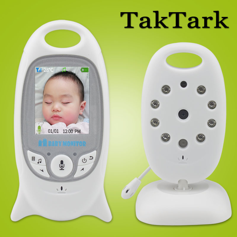 Wireless Video Baby Monitor 2,0 pulgadas Color seguridad 2 Way Talk NightVision IR LED de control de la temperatura con 8 Lullaby