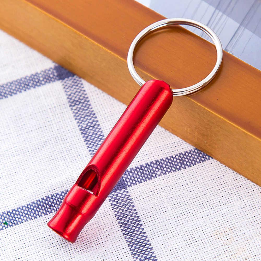 6 pièces/1 pc métal extérieur multifonctionnel sifflet pendentif avec porte-clés Camping Mini survie sifflets en plein air trousse à outils d'urgence