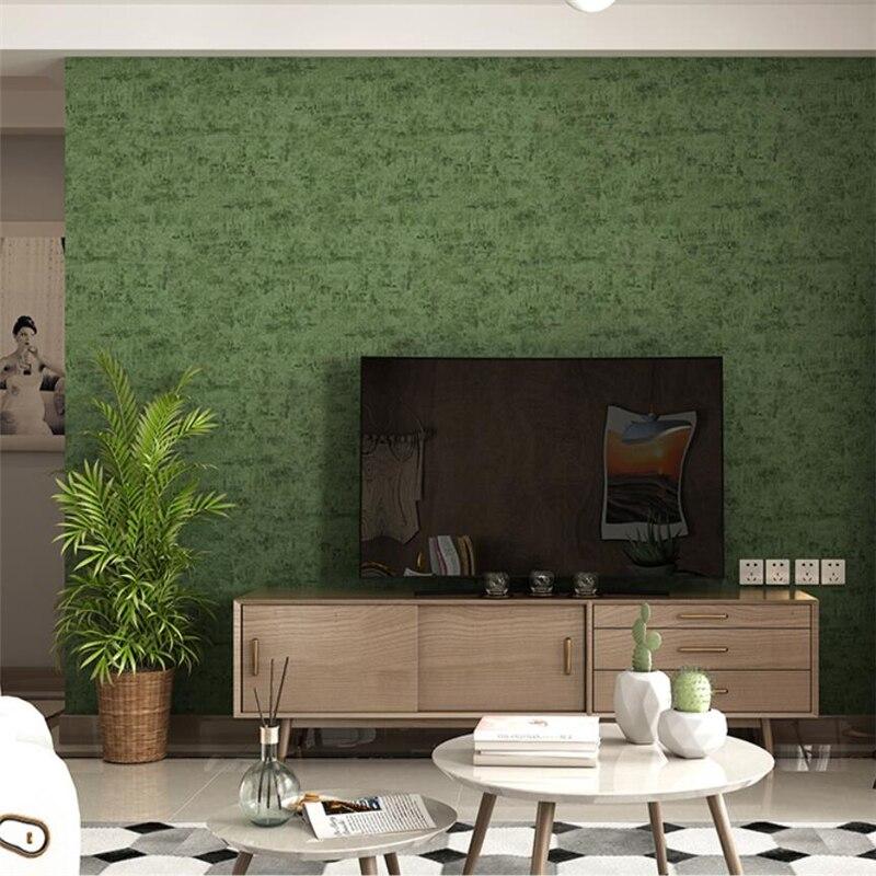 US $26.29 32% OFF|Beibehang Nordic reine farbe tinte grüne tapete moderne  minimalistischen frische grüne wohnzimmer schlafzimmer wand kleidung shop  ...
