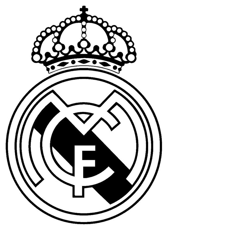 REAL MADRID Football JDM Funny Vinyl Decal Car Sticker Window Wall Laptop alice in wonderland wall decal quote cheshire sayings we re all mad here vinyl decal for macbooks laptops car windows etc