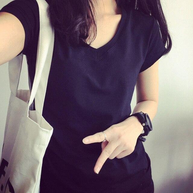 71ad08a27 DZ camisa mujeres Arco Iris rayas Tops Harajuku camiseta 2018 de manga corta  verano coreano Punk femenina H172