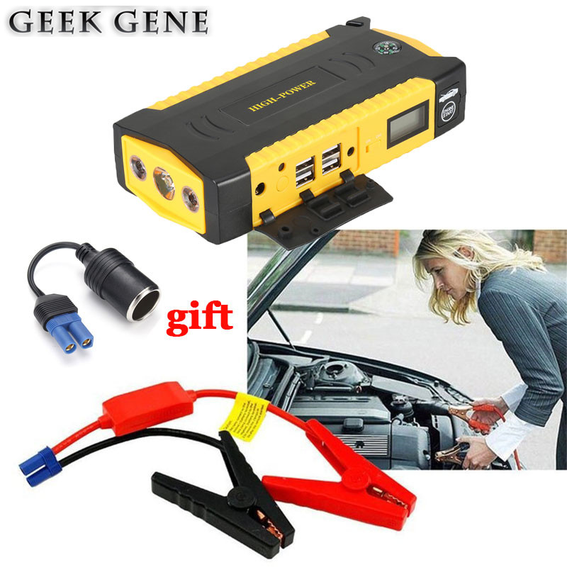Starting Device Car Jump Starter 16000mAh Emergency Power Bank 12V Portable Car Charger For Battery Diesel Petrol Booster Buster