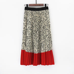 Pleated-Skirts Women's Summer Club Funny Bohemian-Printed High-Waist Long A-Line Animal-Pattern