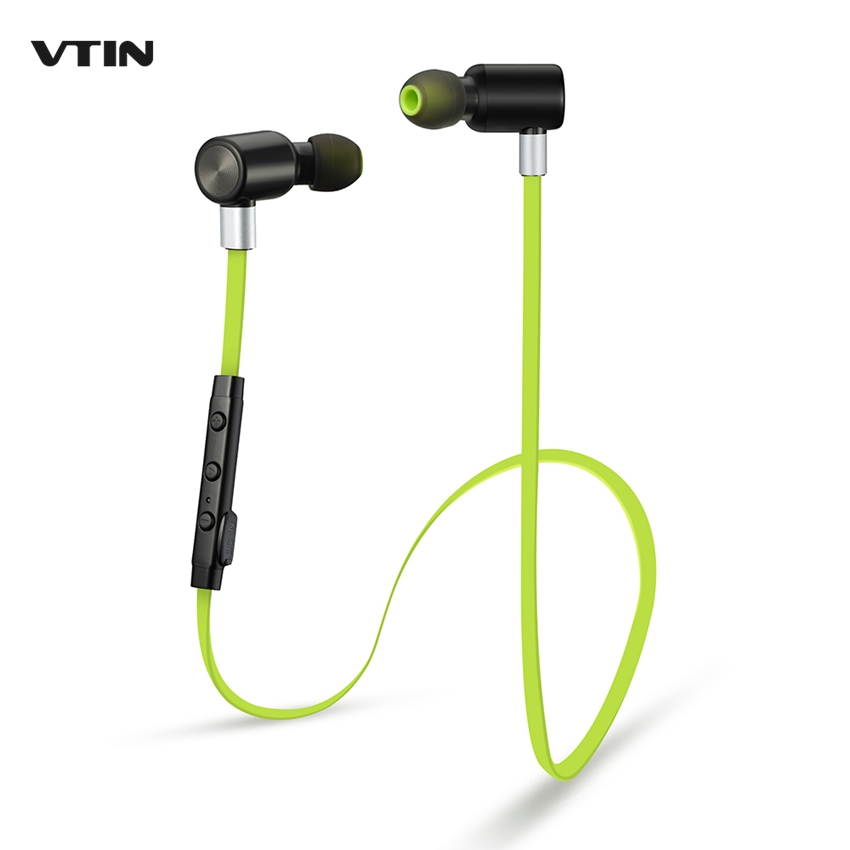 VTIN Bluetooth Earphone Hands Free Wireless Earphones Sport Running Bluetooth Headsets With Mic 5-Hour Talking Time for iPhone epgate d00280 hands free bluetooth v4 0 music earphone orange