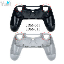 YuXi Replacement back shell Faceplate Case Cover for PlayStition 4 PS4 Old Version Controller JDM 001 011 Plastic Housing
