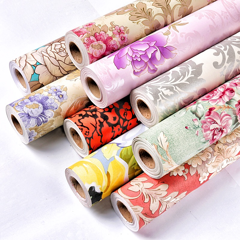 Peony Flowers Self Adhesive Vinyl Decorative Wallpaper Wall Stickers For Home Wall Room Decoration 0.45m*10m