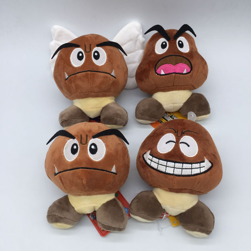 Wholesale 20pcs Lot Cartoon Super Mario Bros Goomba Stuffed Dolls