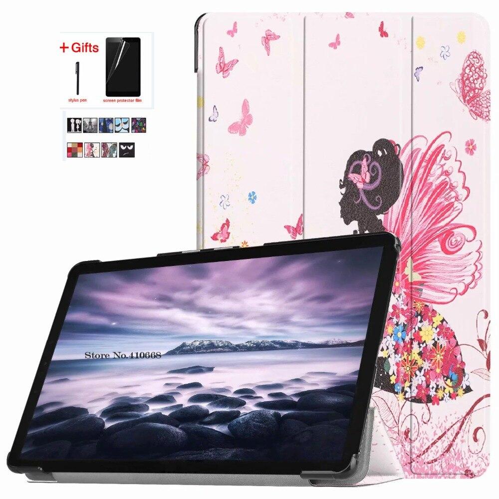 Ultra Slim Magnet Smart Case For Samsung Galaxy Tab A 10.5 T590 T595 T597 SM-T590 SM-T595 Tablet Stand Cover +Film+Pen