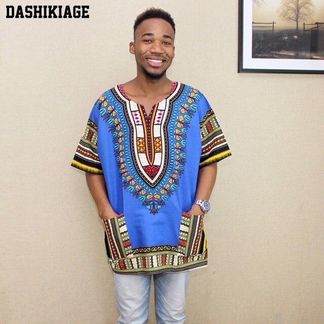2017 nouveau Design de mode imprimé traditionnel africain 100% coton Dashiki T-shirt pour unisexe