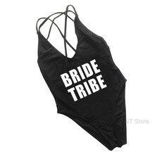 9ca6ee8edbb 2019 New BRIDE One Piece Swimsuit Women Vintage Bathing Suits Plus Size  Swimwear Beach Padded Print