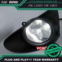 2 шт./пара светодиодный фонарь для Toyota Yaris 2012 Высокая Мощность привело противотуманных фар авто DRL Освещение светодиодные фары