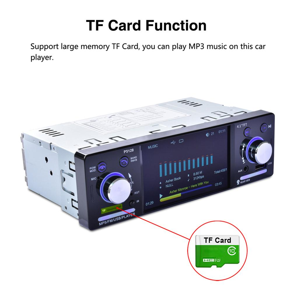 """Image 5 - 4.1"""" Autoradio TFT LCD 1080P Backlit Colorful ISO Port Priority Bluetooth MP5 Player P5128 support AM/FM/RDS Rear View Camera-in Car Multimedia Player from Automobiles & Motorcycles"""