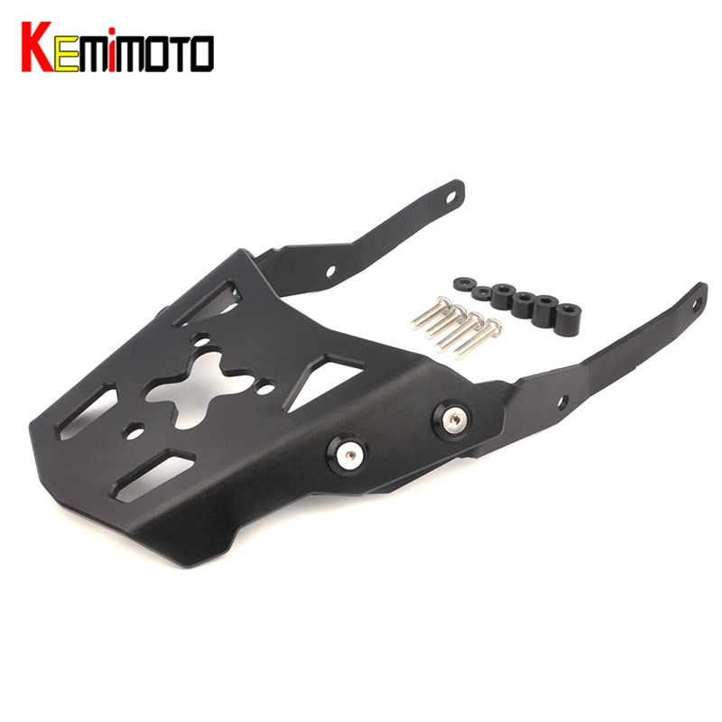 KEMiMOTO Motorcycle Accessories Rear Carrier Luggage Rack For YAMAHA MT-10 MT10 MT 10 2016 2017 exterior silver roof rack side rails bars luggage carrier a set for nissan qashqai j11 2014 2015 2016 accessories