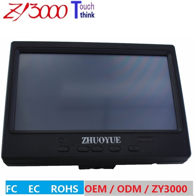"NOVO HD 1280*800 7 ""Cor TFT LED Car Rear View Monitor Com VGA, HDMI, Entrada de vídeo Para Reverter Câmera DVD VCD"