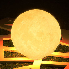 Горячие продажи 3D печати луна лампа зарядки moon night light луна