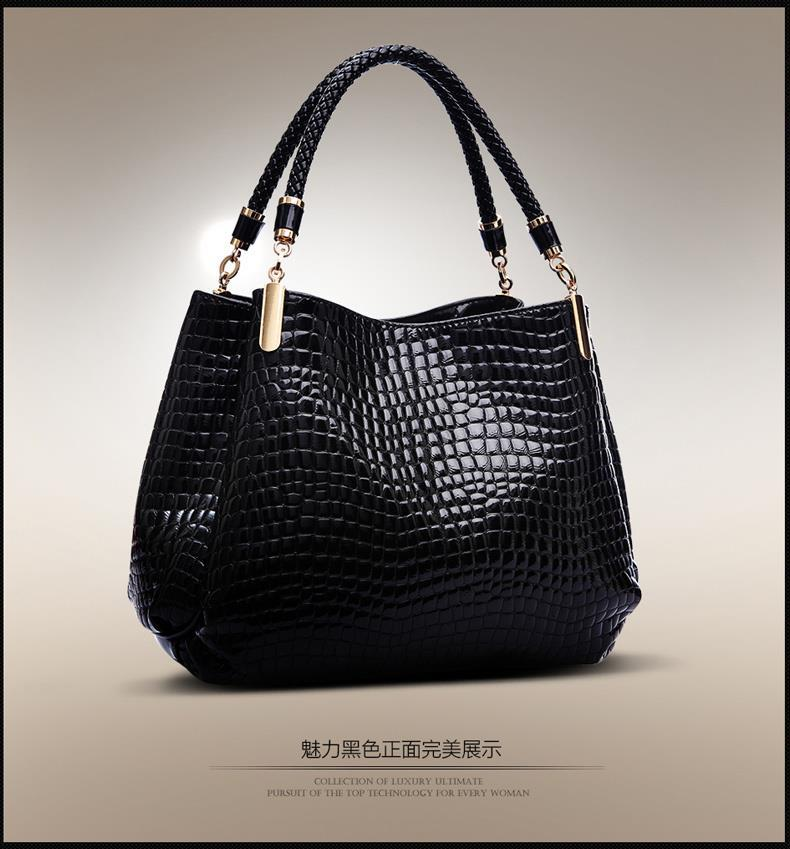 The lowest price New 2016 Fashion  Brand Bag Leather Women Handbag Shoulder Bags Crocodile Women Messenger Bags Bolsas