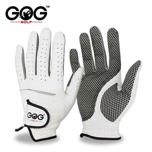 Бесплатная доставка натуральная кожа Гольф перчатки Для мужчин левой правой мягкий дышащий Pure овчины Гольф перчатки Гольф аксессуары