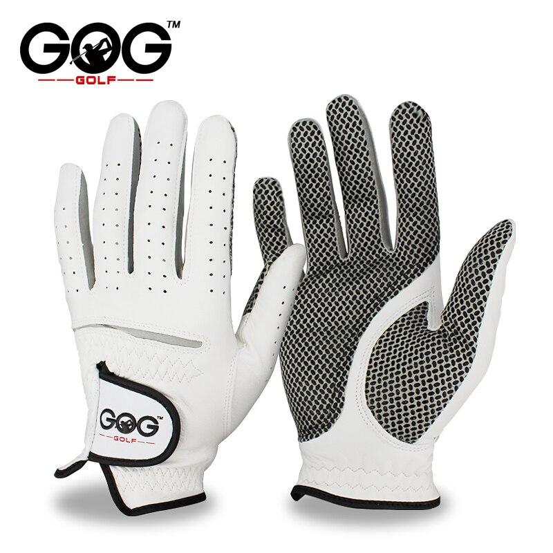Envío gratis de cuero genuino guantes de Golf de los hombres izquierda mano suave y transpirable pura piel de oveja guantes de Golf de accesorios de Golf