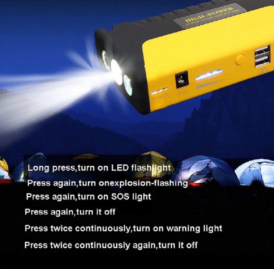 Muti-fonction Jump Starter 600A 16800 mah Haute Puissance Batterie Chargeur Double USB Véhicule Saut Démarreur Booster Voiture Départ dispositif - 5