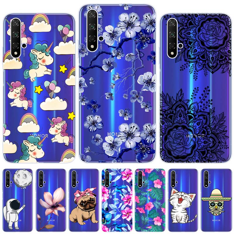 For Huawei Honor 20 Case Cover Soft Silicone Transparent Protector Honor 20 Cover Phone Back Case For Huawei Honor 20 Case Capa