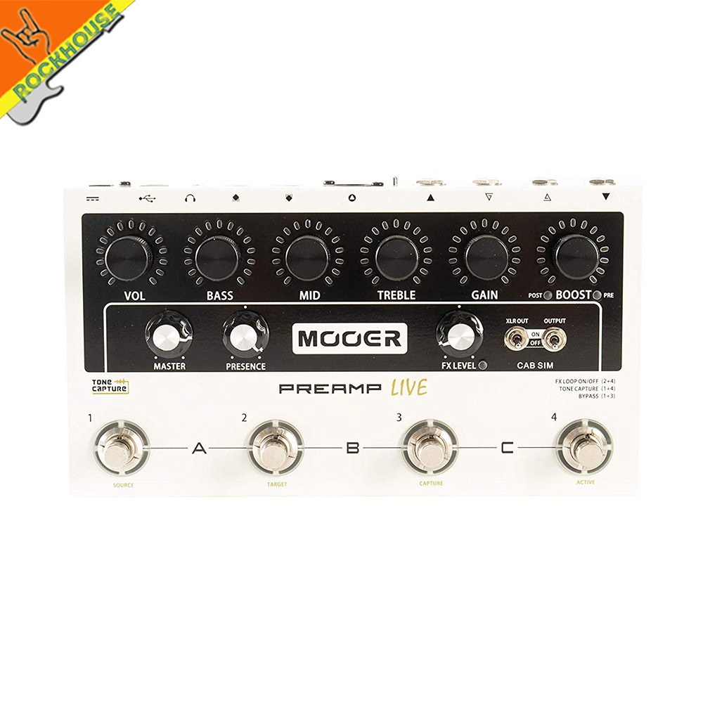 Mooer Preamp Live Guitar Multi effects Processor IR Impulse Response Cabinet Simulator Free Shipping