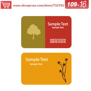 0109 16 Business Card Template For Seed Paper Business Cards