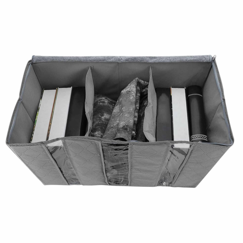 Behogar 65L Grande Capacidade Portátil Dobrável Não-Tecido Saco De Armazenamento Organizador Roupas de Cama Cobertor Classificação Bolsa