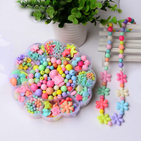 Children handmade colored shapes Sunflower Acrylic bead Spacer Ball making jewelry diy beads stone rondelle mixed 13 grid box